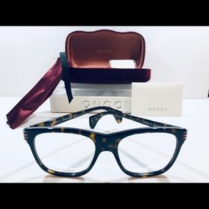 Gucci Men's Eyeglasses Havana Brown Square